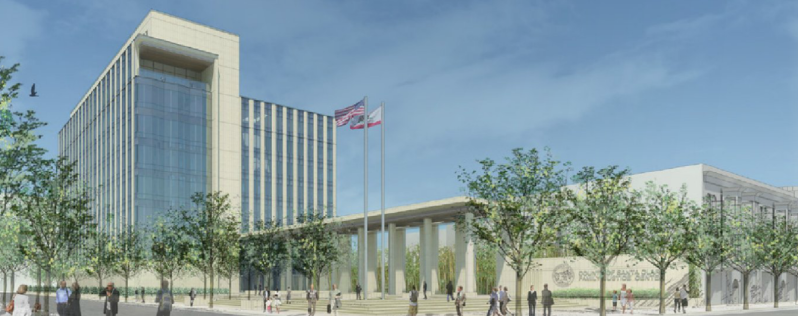 A rendering of the new Family Justice Center