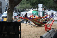 Hammocks at Plaza de Cesar Chavez