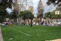 Football field at Plaza de Cesar Chavez